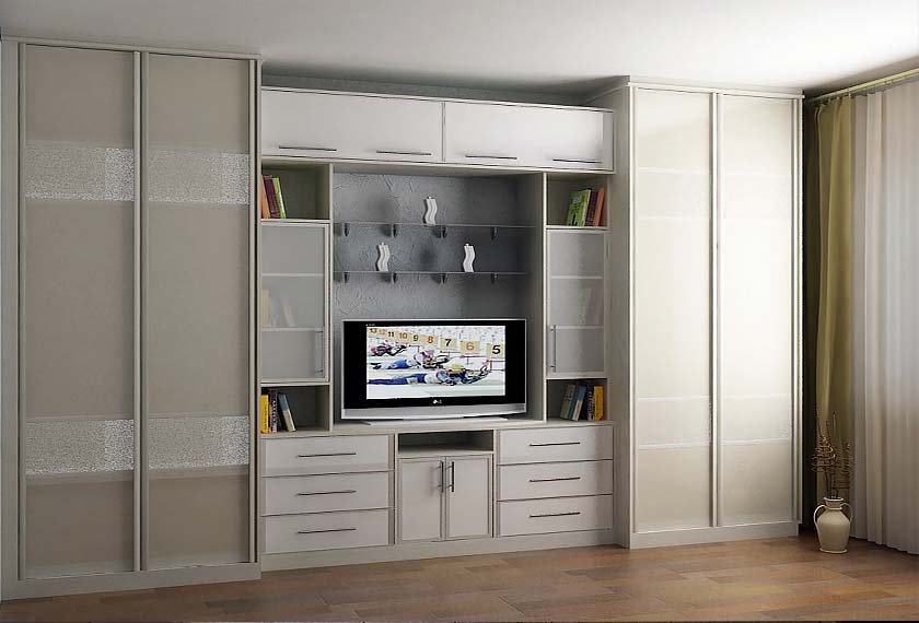 шкаф в гостиную с телевизором