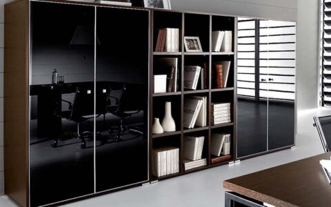 Комбинированный шкаф в офис