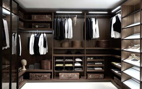 Элитная гардеробная комната