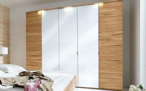 Пятидверный шкав в спальню с подсветкой